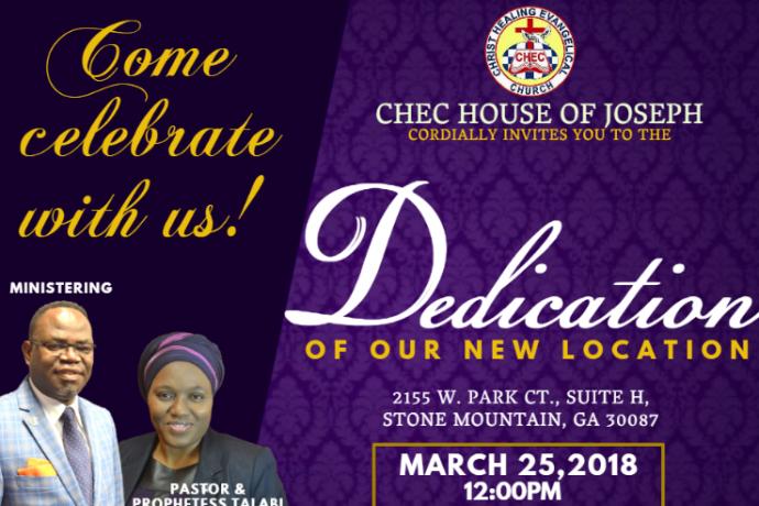 Church Dedication Announcement